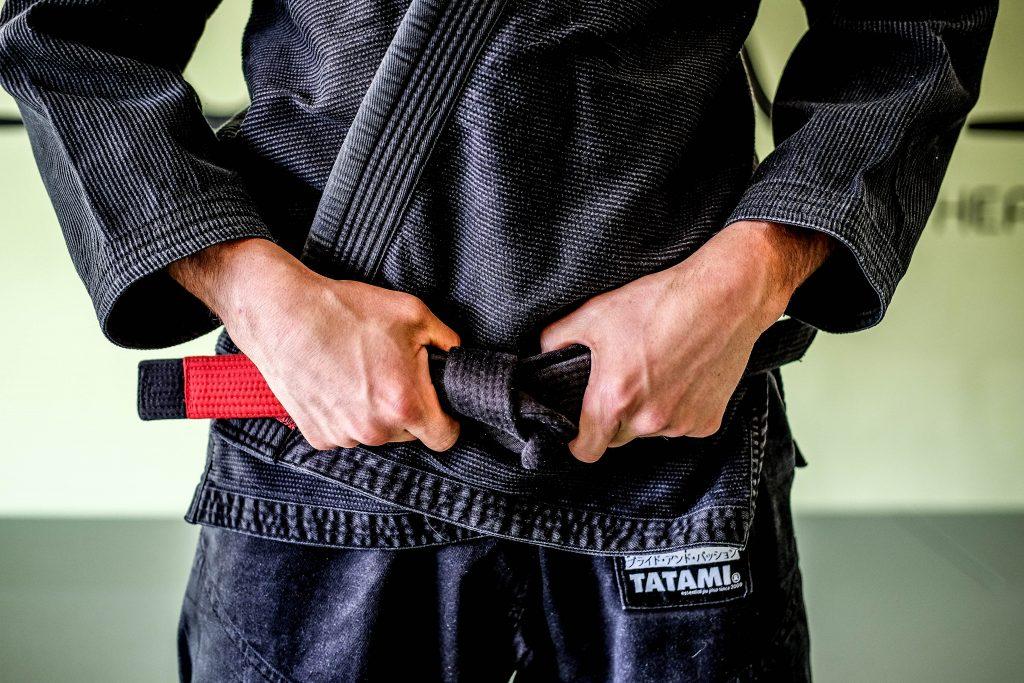 Andy Peters, black belt met internationale wedstrijdervaring.